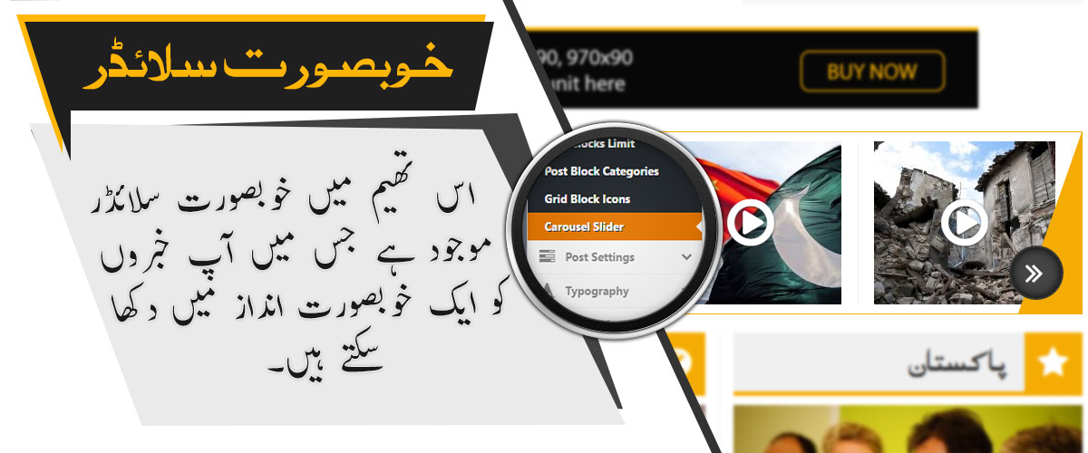 Carousel Slider - Premium Urdu Newspaper Theme