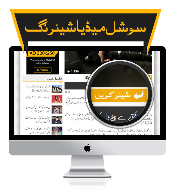 Social Sharing - Premium Urdu Newspaper Theme