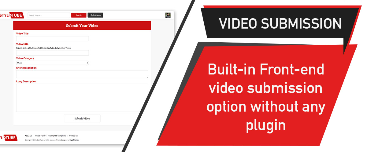 StyloTube - WordPress Video Website Theme